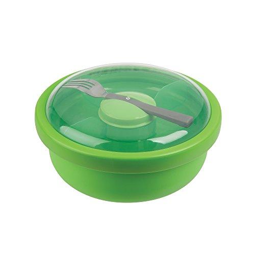 Pote Plástico com Tampa Redondo Progressive Verde/Transparente Plástico