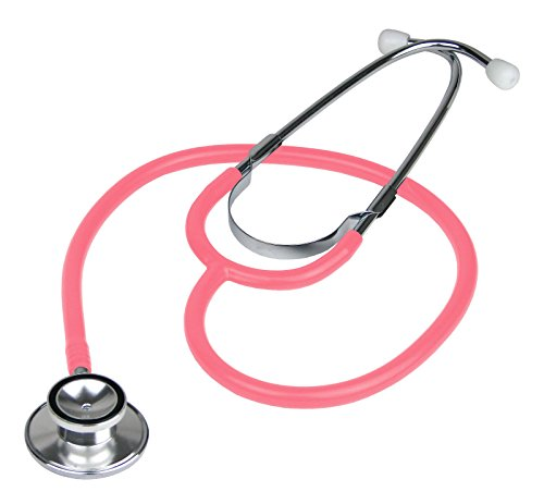Double Dual Head Pink Stethoscope For Kids Doctor Gift