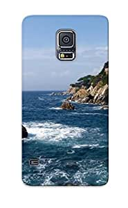 For Galaxy Case, High Quality Rocks At Shore For Galaxy S5 Cover Cases / Nice Case For Lovers' Gifts