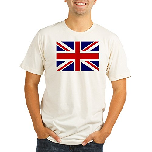 Royal Lion Organic Men's Fitted T-Shirt British English Flag HD - (British Organic Mens T-shirt)