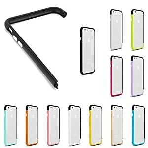 DD DIY Black Color and Solid Color Combination Design Bumper Frame Case for iPhone 6 (Assorted Colors) , 1