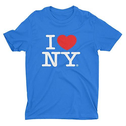 I Love Ny - I Love NY New York Short Sleeve Screen Print Heart T-Shirt Royal Blue Large