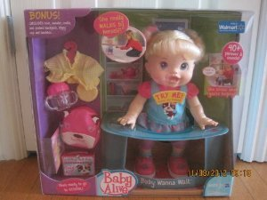 Baby Alive ( Baby Alive ) Baby Wanna Walk Blonde Bonus for sale  Delivered anywhere in USA