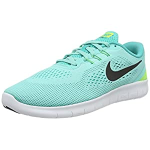Best Epic Trends 413QW4SVSUL._SS300_ Nike Free Rn (Gs)Girls Running Shoe Hyper Turq/Black-Clear Jade-Volt Size 7 Big Kid