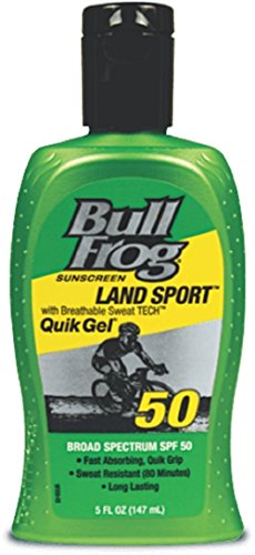 BullFrog Land Sport Quik Gel SPF 50 Sunscreen 5 oz (Pack of 2)