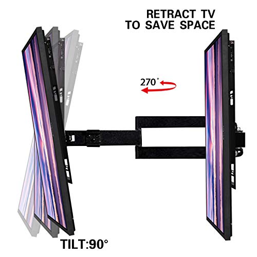 Aeromount Tilt LCD-271 TV Wall Mount, Max VESA 200mm x 200mm, TV Bracket - Adjustable Telescoping and Rotating Flat Screen TV for Most 26inch - 55inch LED, LCD, OLED, Plasma -