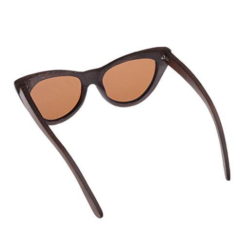 de Homyl en Boîte boîte Bois Protection Lunette Soleil Cadre Cadeau Lunette 400 Femme UV Homme brun 5qqwRxzr