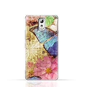 Lenovo Vibe P1m TPU Silicone Case with Vintage Butterfly Pattern