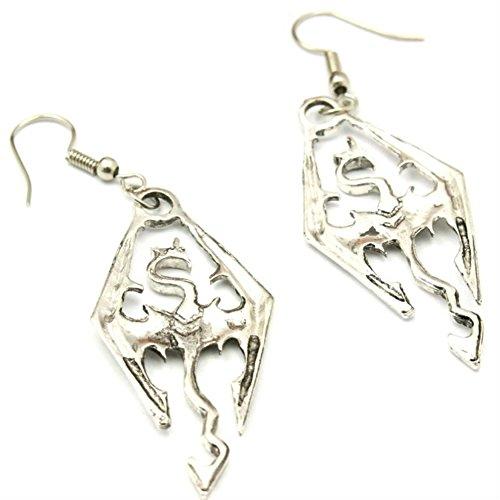 Outlander Skyrim Logo Earring Dangles In Gift Box From (Ring Wedding Skyrim)