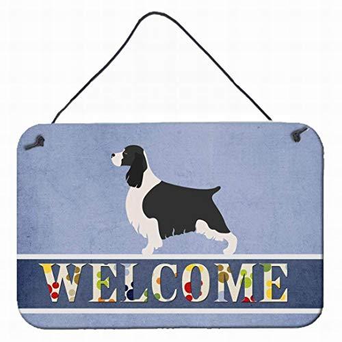 Fsdva Funny Tin Sign Decoration English Springer Spaniel Welcome Metal Print 12x16 Multicolor Wall Decor Home Decor