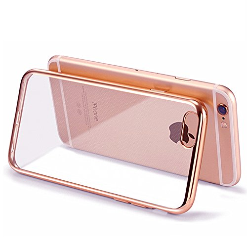 Iphone 6s Case - HD Clear Screen Protector Included - Shock-Absorption Clear TPU Bumper Case Slim Fit Soft Cover...
