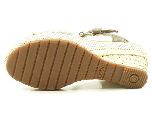 1 Damenmode Farbe Gabor 41 Schuhgröße gris Sandalen EU; 824 82 XOHnqwfO