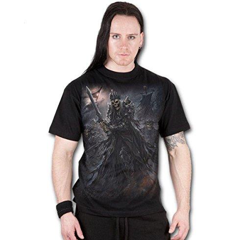 Herren T-Shirt SPIRAL - Death's Army - schwarz - T129M101
