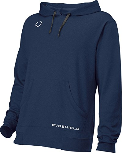 EvoShield Mens Pro Team Hoodie - Adult, Navy, Large (Baseball Sleeveless Uniform)