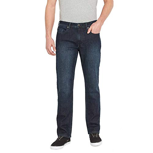 Buffalo David Bitton Men's Jackson-X Straight Jeans for Men (36x32, Dark Blue) ()