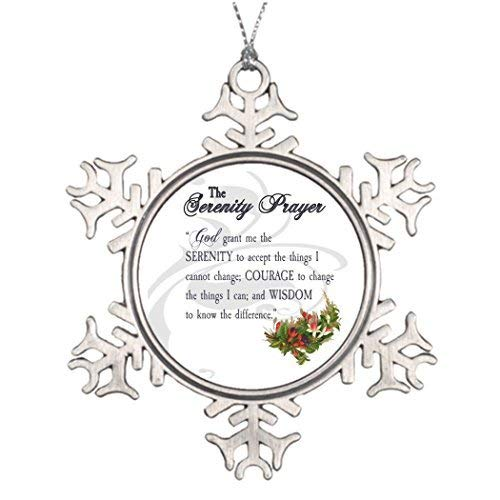Acove Serenity Prayer Serenity House Christmas Snowflake Ornaments 3 inch