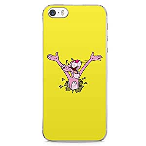 Loud Universe Pink Panther iPhone 5 / 5s Case Surprise Pink Panther Yellow iPhone 5 / 5s Cover with Transparent Edges