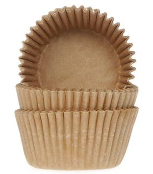 Mini - Moldes - 50 Unidades - 35 x 22,5 mm - capuchino/leche café - Ideal para Mini Magdalenas, Cake Pops: Amazon.es: Hogar