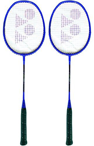 Yonex ZR 100 Strung Badminton Racquet, Blue  Set of 2