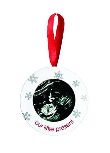 Pearhead Sonogram Our Little Present Holiday Keepsake - Photo Holiday Frame Ornament