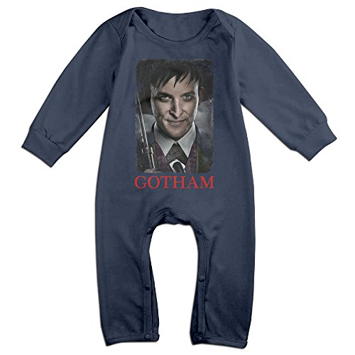 CYANY Gotham Crime Television Series Infant Long Sleeve Romper Playsuit 6 M Navy