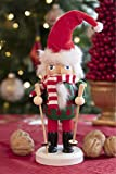 Clever Creations Skiing Santa 8 Inch Traditional
