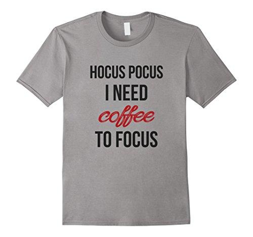 Mens Hocus Pocus I need Coffee to Focus Funny Halloween T-Shirt 2XL Slate - Cup Of Joe Halloween Costume