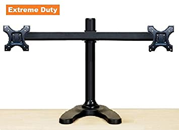 Amazon EZM Deluxe Dual Monitor Mount Stand Free Standing with