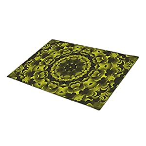 AbbyDay Monogrammed Door Mat Kaleidoscope Pattern Flower Modern Doormat One size