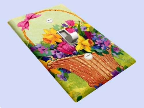 Flower Basket Switchplate - Switch Plate Cover