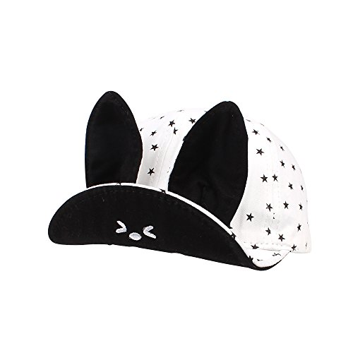 Bunny Baseball (Jangannsa Baby Toddler Kids Hat Boys Girls Stars Bunny Ears Baseball Cap Spring New 6-24Months (6-24Months, White))