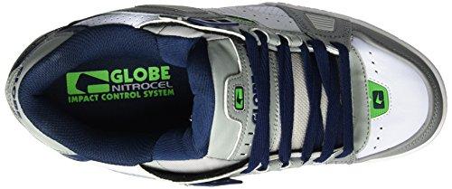 Globe Sabre, Zapatillas de Skateboard para Hombre Multicolor (Grey/Blue/Green)