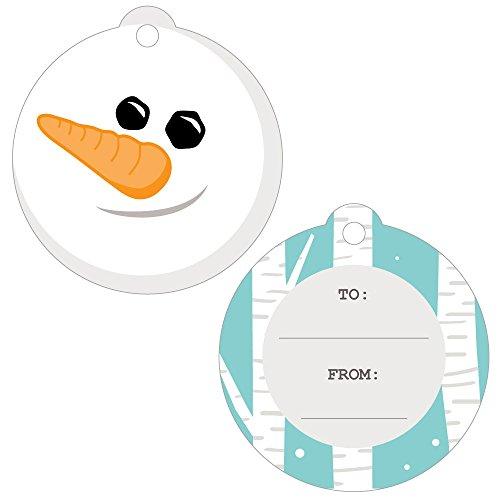 - Let It Snow - Snowman - Holiday and Christmas to and from Favor Gift Tags (Set of 20)