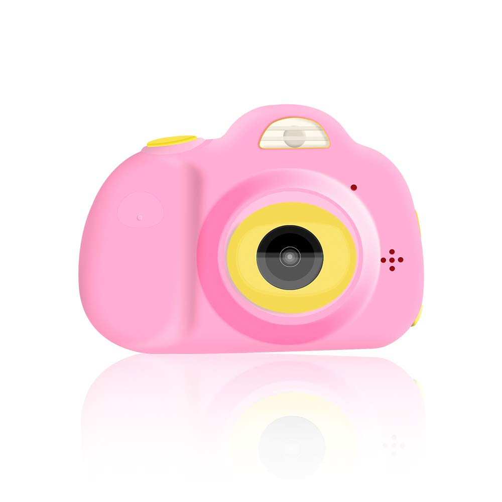 Kodee Kids Camera Gift for 3-10 Years Old Girls, Shockproof Cameras with Dual Cameras Child Camcorder for Little Girl Soft Silicone Shell for Outdoor Play,Pink with 2.0HD Display (Pink)