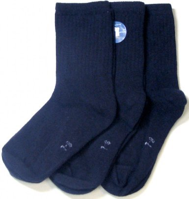 Florence Cotton Boys Crew Socks 3 Pair Casual Uniform Socks (6-7, Navy Blue) (Woven Socks Kids)