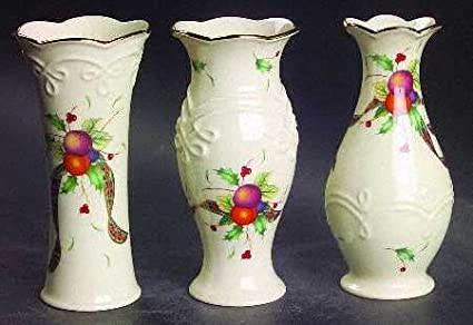 Amazon Lenox Holiday Tartan Bud Vase Set 3 Home Kitchen