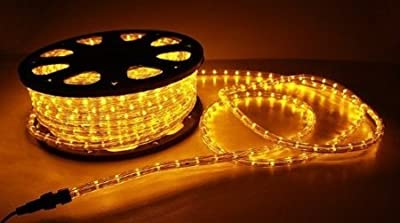 NEW 150' ft 2 Wire LED Rope Light Home Outdoor Christmas Lighting Yellow