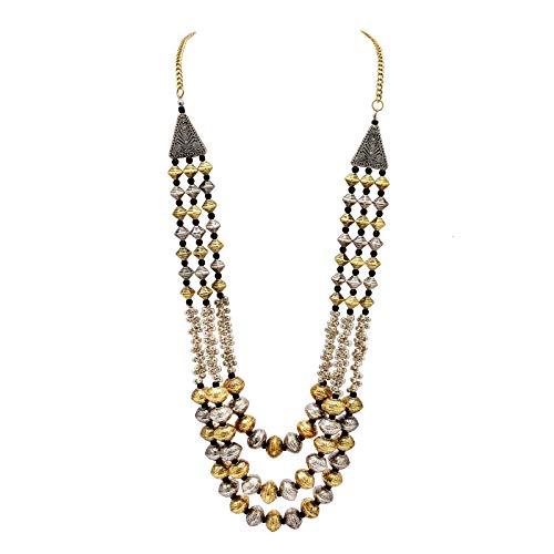 Zephyrr Tibetan Long Strand Necklace Gold Tone Casual Daily Wear Statement Jewelry for Women JAN-1870