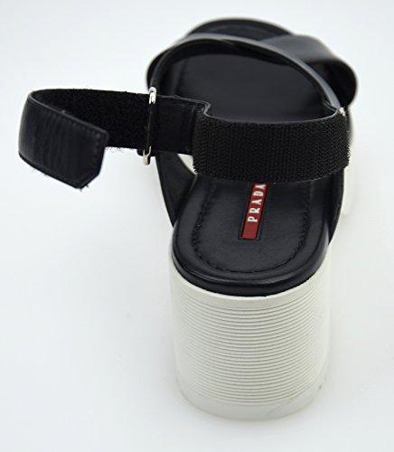 Scarpa Prada 3x6010 Black Sandalo Donna Pelle Nero Art FqdU6Pdx
