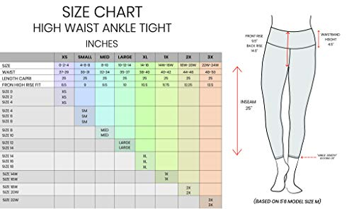 90 Degree By Reflex High Waist Tummy Control Interlink Squat Proof Ankle Length Leggings 18