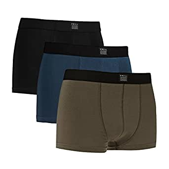 Swell Men's Boxers Mens 3 Pack Cotton Stretch Black