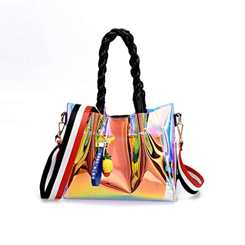 Body Hologram bag bag Women's Transparent Cross Waterproof Black EROUGE Purse Beach Sling Laser Shining Clear Swimming AHqnOw
