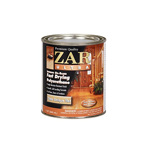 ZAR 33912 Oil Based Polyurethane Wood Finish, QT (Best Poly For Hardwood Floors)