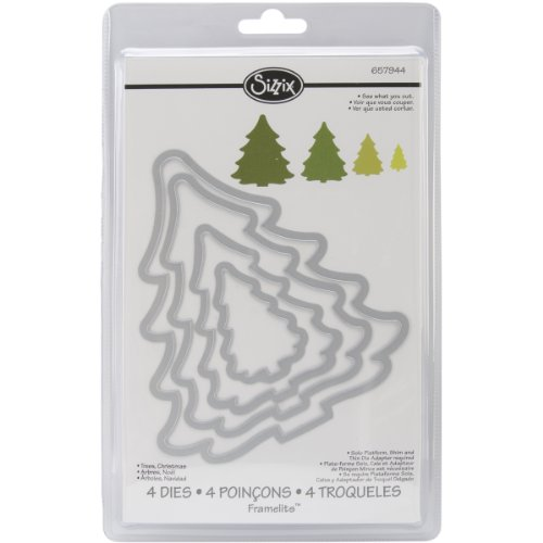 Sizzix Framelits Die, Christmas Tree by Rachel Bright, 4 Pack