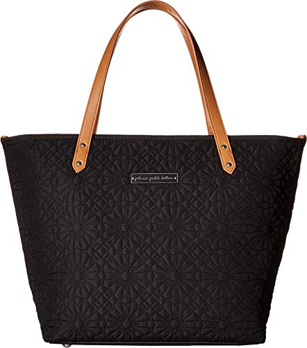 Petunia Pickle Bottom Embossed Downtown Tote, Black