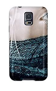 AetWm5670YEESt NikRun Awesome Case Cover Compatible With Galaxy S5 - Blue Eyes Girl