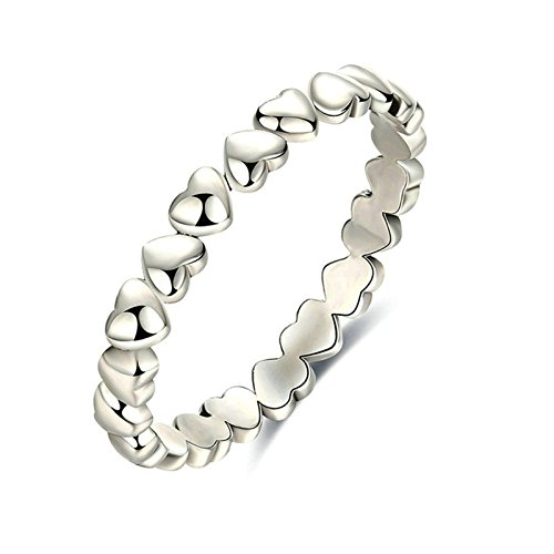 (Aooaz Rings Sterling Silver Heart Womens Silver Rings Size 9 Novelty Jewelry Gift )