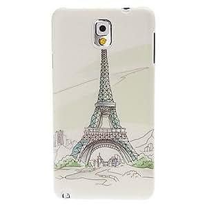 Eiffel tower Pattern Plastic Hard Case for Samsung Galaxy Note 3