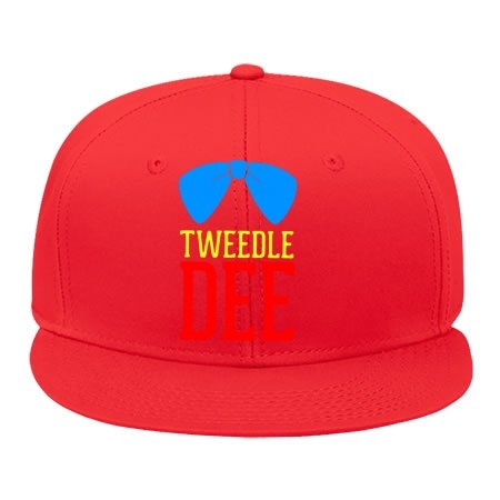 Tweedle Dee Tweedle Dum Red Hip Hop Cap Snapback ! Cotton Male/female Genesim Hats Adjustable Hat