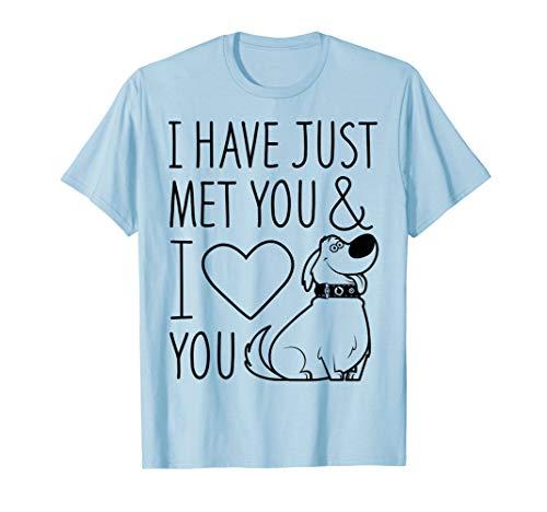 Disney Pixar Up Dug Just Met And I Love You Graphic T-Shirt]()
